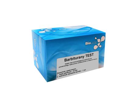 BioLine Barbiturany Test, test płytkowy, czułość 300 ng/ml