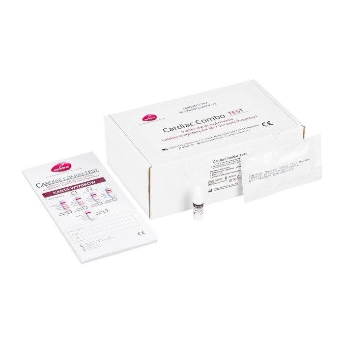 CARDIAC COMBO TEST (10 testów) - szybki test do wykrywania ludzkiej mioglobiny, CK-MB i sercowej troponiny I
